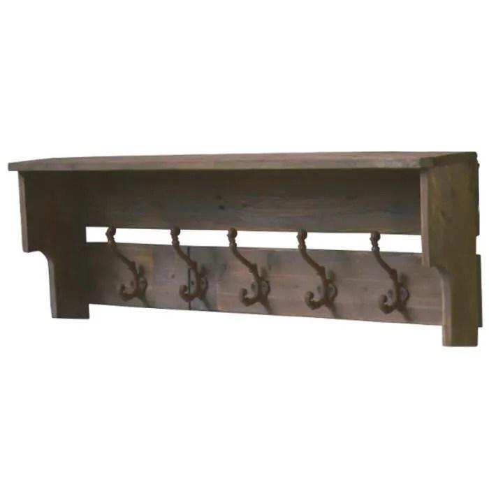 porte manteaux etagere d entree bois ancien 82 cm x 20 cm x 30 50 cm