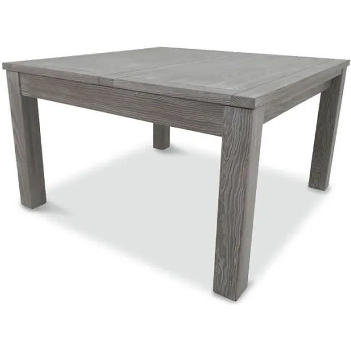table de repas carree a allonge bois massif gabr
