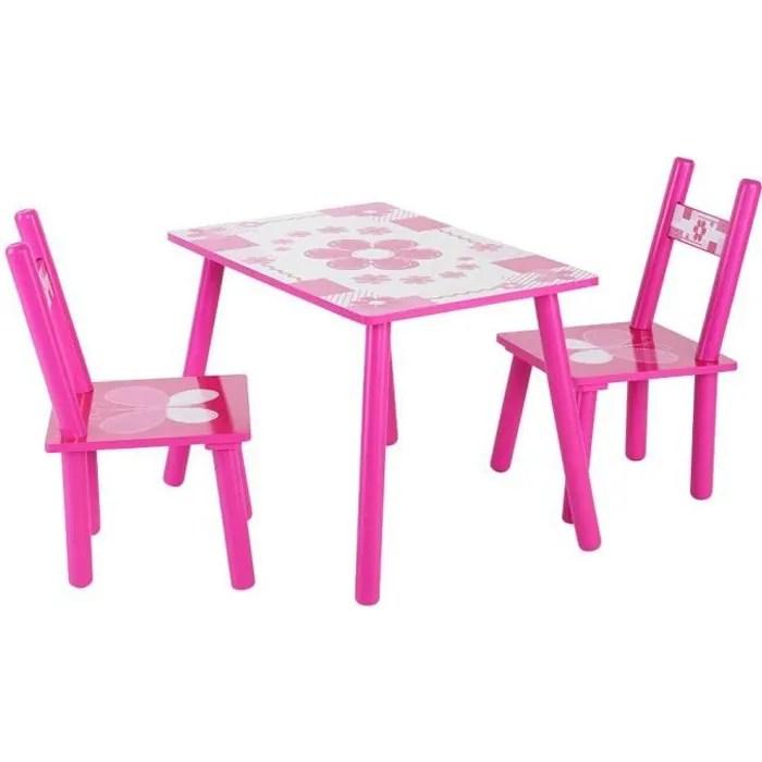 ensemble table avec 2 chaises pour enfants table et chaise enfant en bois petit meuble bureau pour enfants table et chaises pour