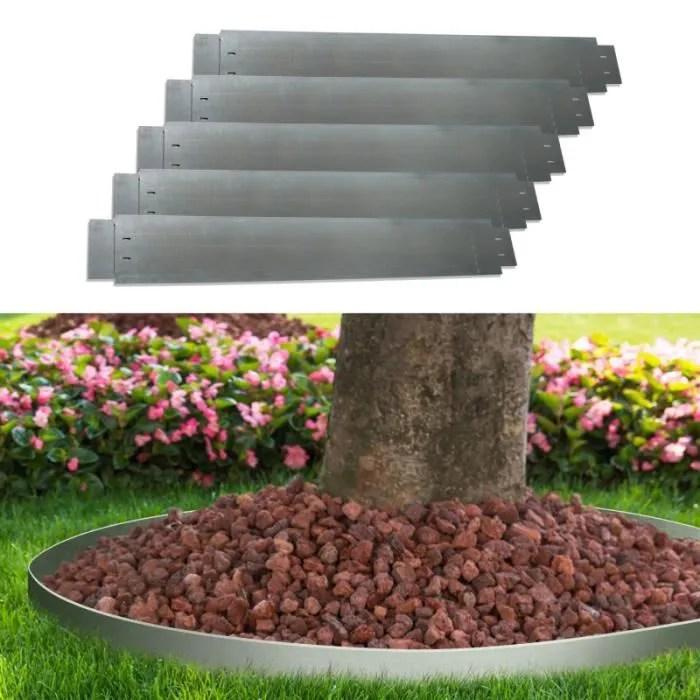 idmarket bordure de jardin x5 en acier l 5 m x h