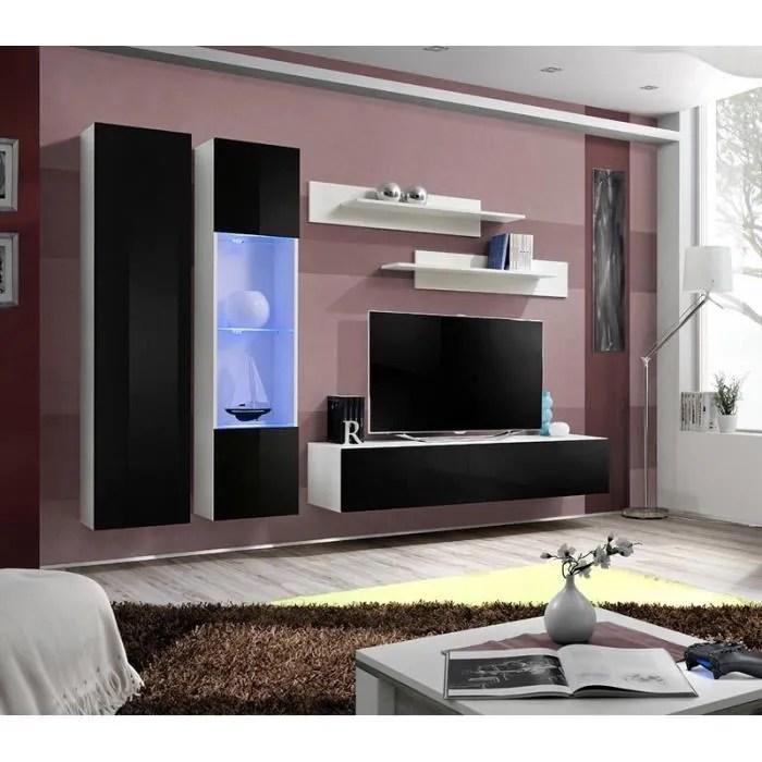 ensemble meuble tv noir et blanc