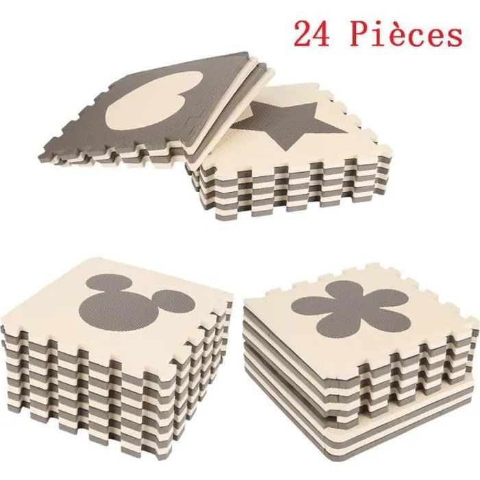 24 pieces puzzle ramper tapis bebe cafe mignon en