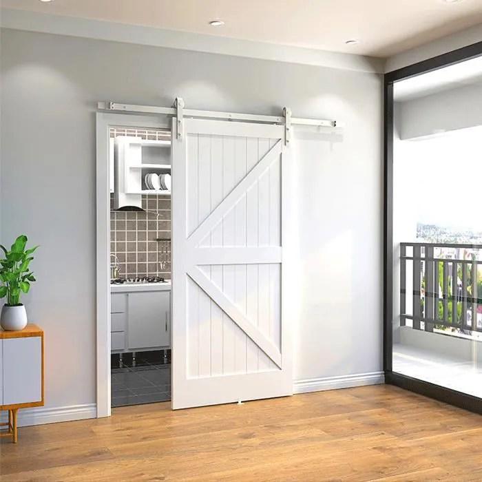 rail pour porte coulissante de meuble blanc