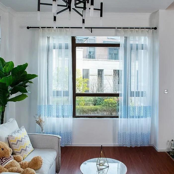 2 pieces moderne pure rideau porte fenetre tulle r