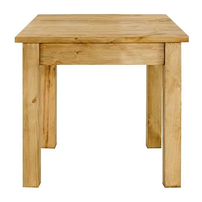 table repas pin massif 100x100 cm