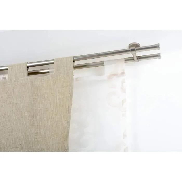 double tringle a rideaux o 20 mm sans anneaux l