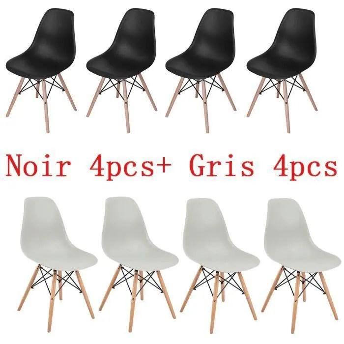 jkk lot de 8 chaise de la mode salle a
