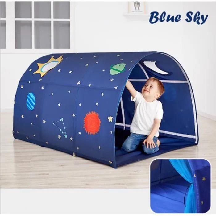 tente de lit enfant garcon univers interieur jouer tente cadeau moustiquaires ciels de lit jardin 100 140 80cm
