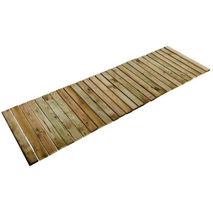 allee en bois a derouler 2x0 6m