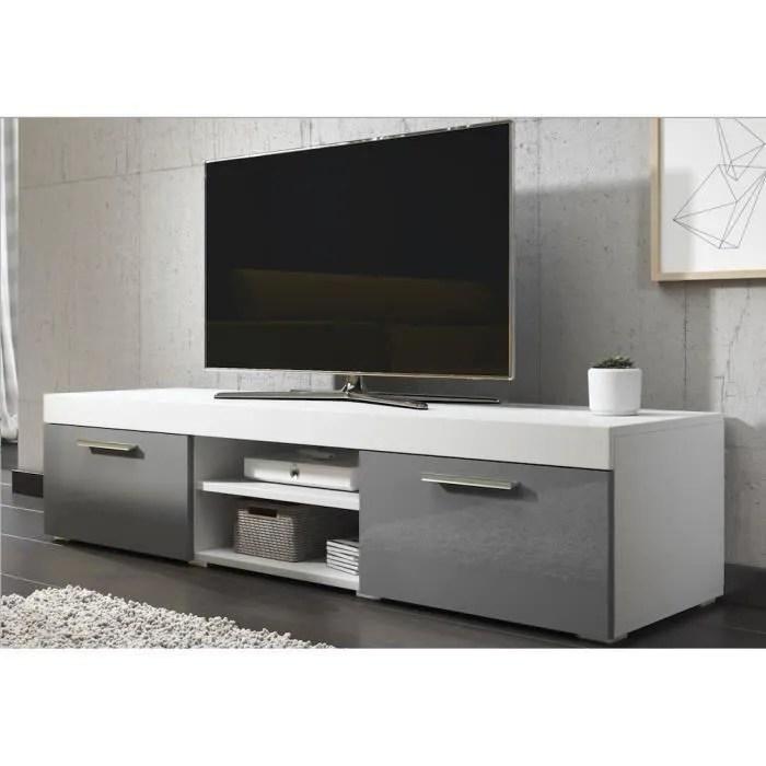 paris meuble tv contemporain decor blanc et gris