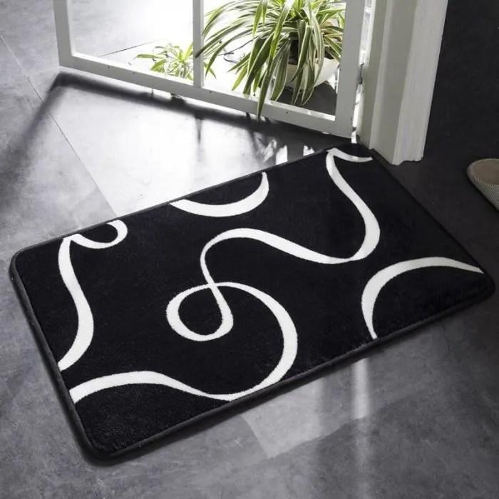 version 04 60x90cm tapis de bain noir et blan