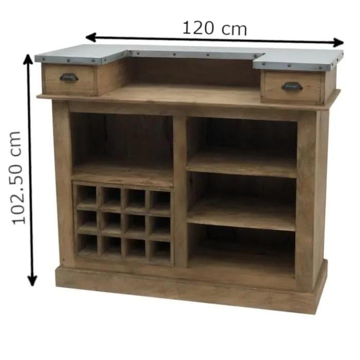 meuble bar bar comptoir bois zinc