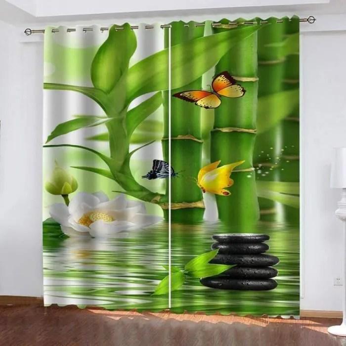 rideau occultant vert d eau