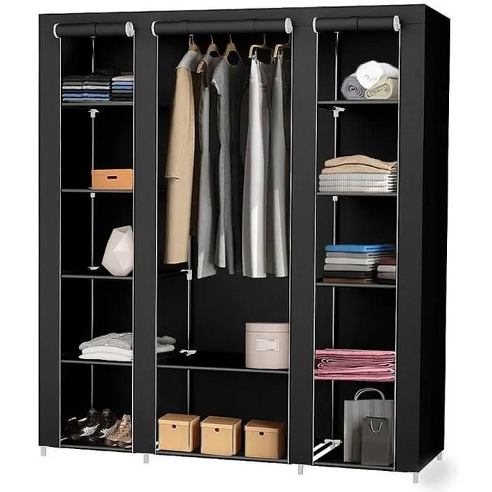 armoire tissu bois