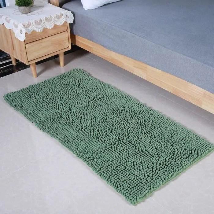 tapis salle de bain vert eau
