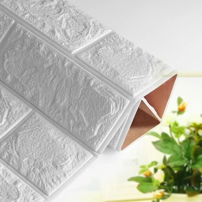 autocollant de mur de brique de papier peint en mousse de briques 3d blanc