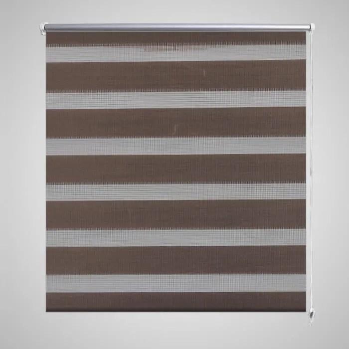 store enrouleur 80 x 175 cm tamisant marron rideau