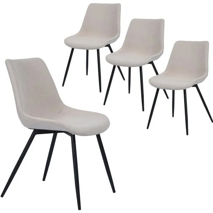 furnish1 casemiro lot de 4 fauteuil