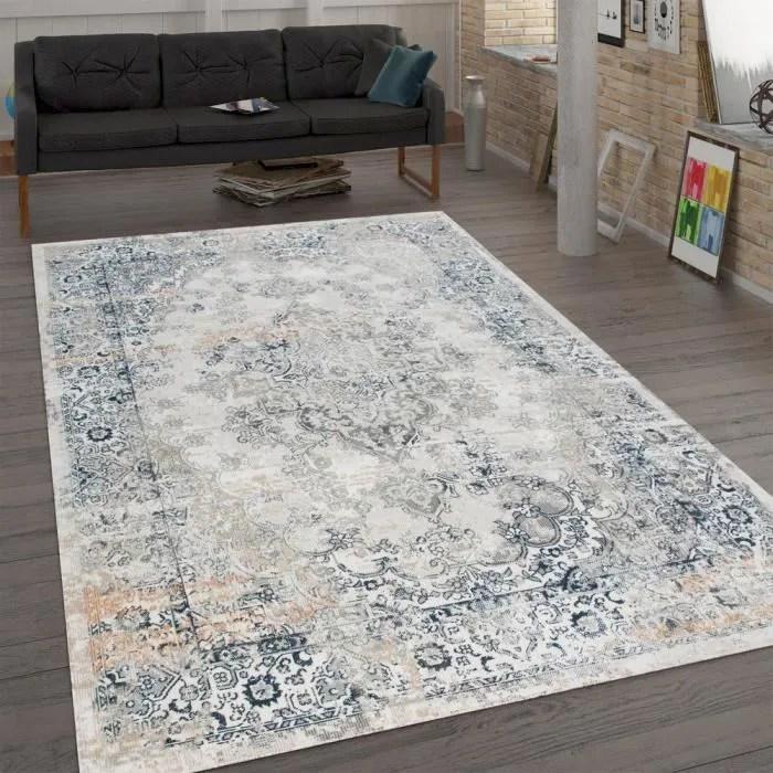 tapis pour salon tissage plat au design oriental
