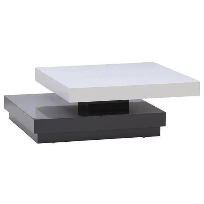 table basse blanc gris