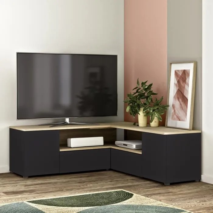 meuble tv d angle 4 portes decor
