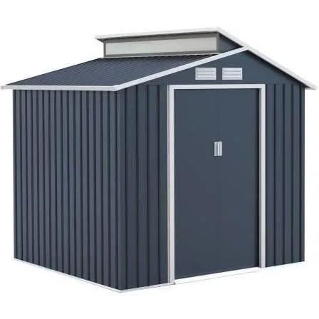 abri de jardin acier 4 25 m2 avec kit d ancrage i