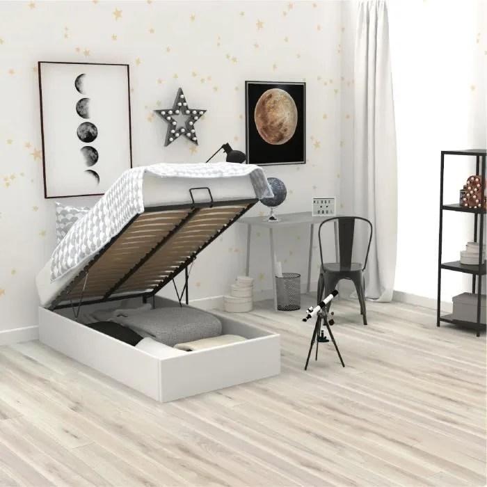 lit coffre 120x190 blanc