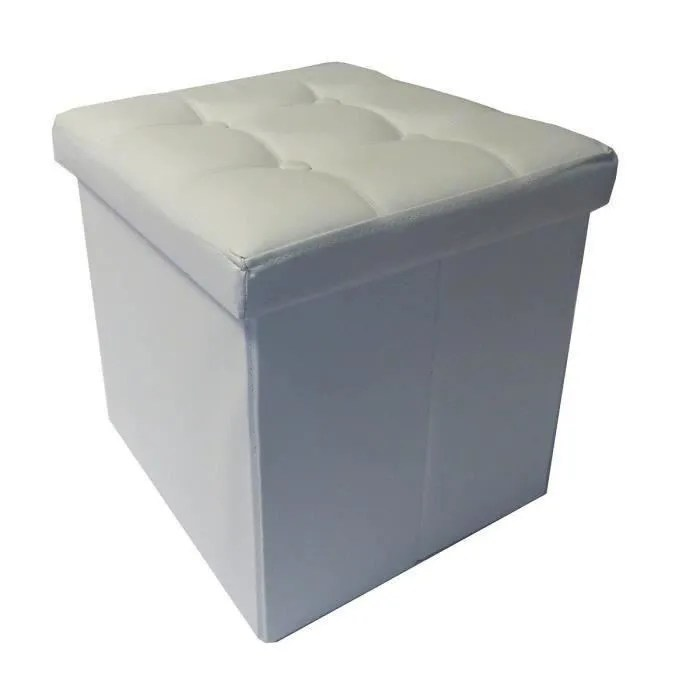 pouf coffre de rangement pliable pvc