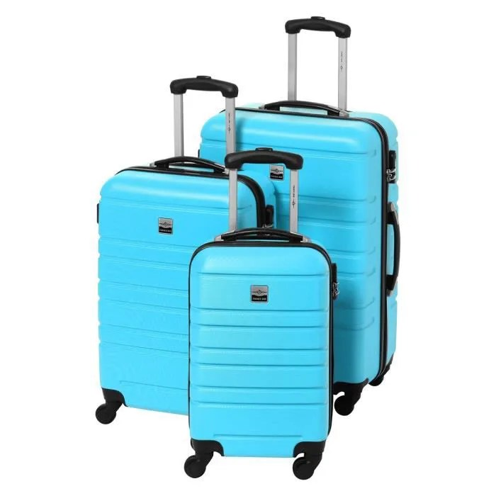 france bag set de 3 valises rigide abs