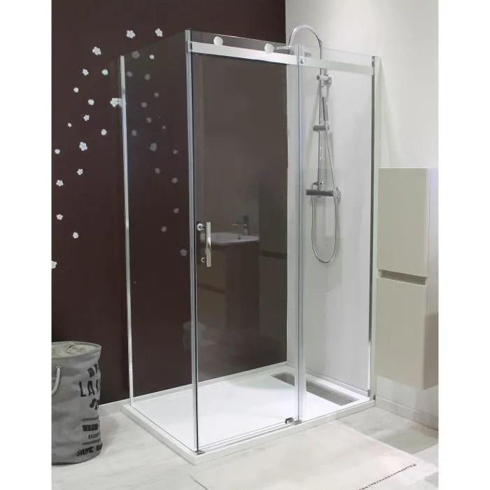 aqua porte de douche coulissante alico 140 cm
