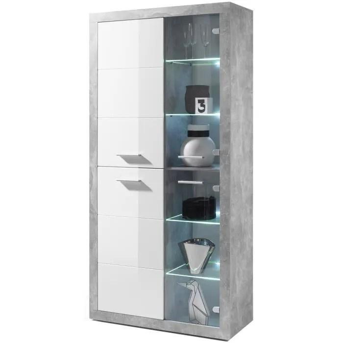 stone vitrine led style contemporain