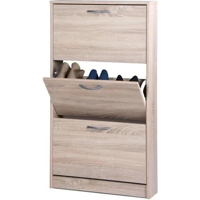 meuble chaussure 25 cm profondeur
