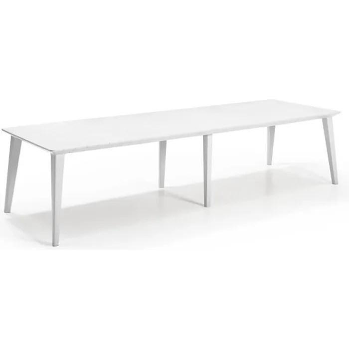 table design contemporain 320cm blanc allibert by keter 8 a 10 personnes avec allonge lima