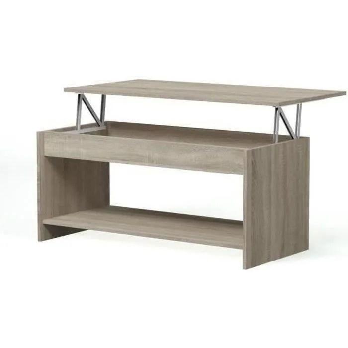Happy Table Basse Transformable Style Contemporain Lamine Chene Sonoma L 100 X L 50 Cm Achat Vente Table Basse Table Basse Chene Happy Cdiscount