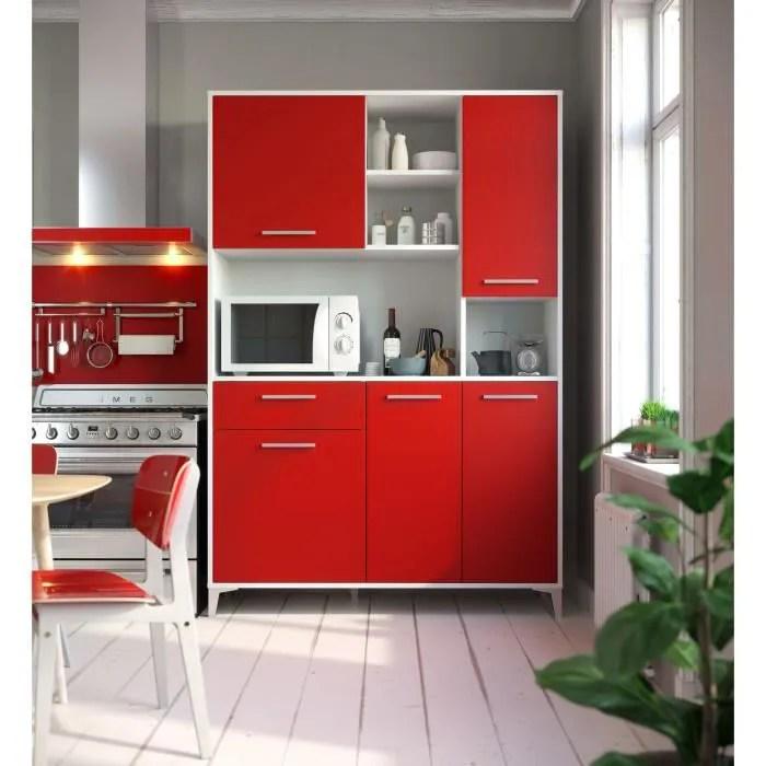 eco buffet de cuisine l 120 cm rouge mat