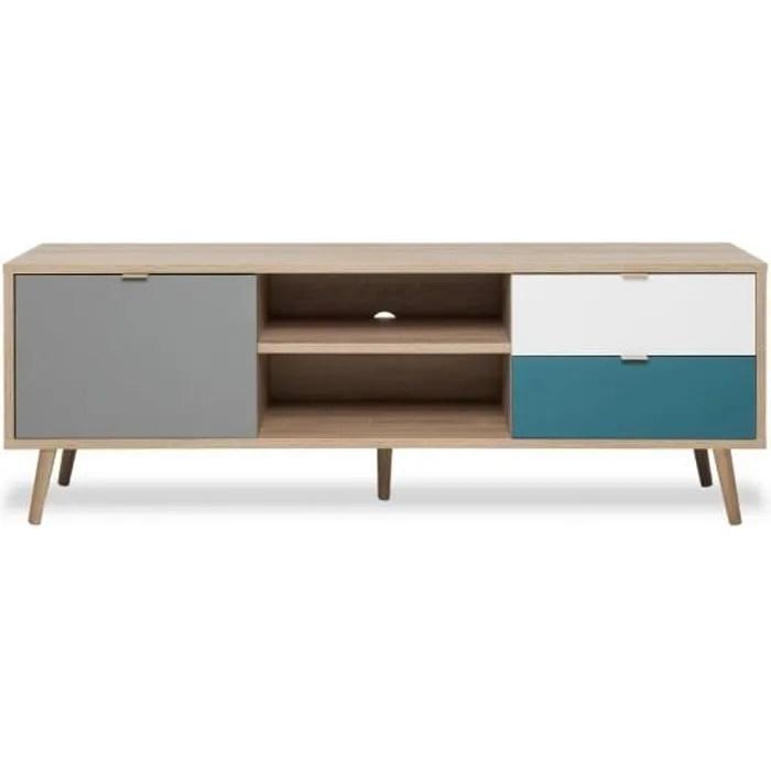 cuba meuble tv scandinave decor chene
