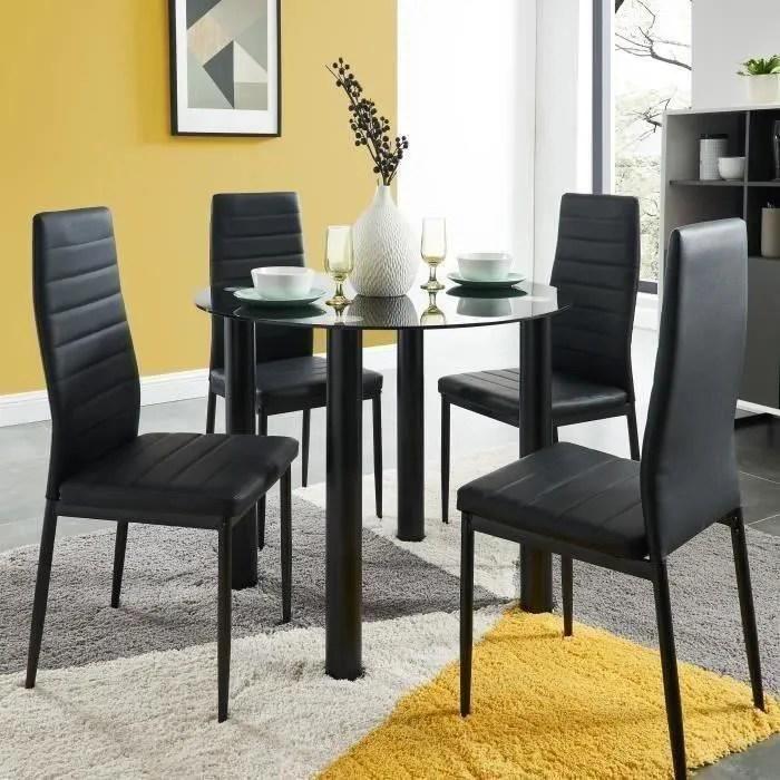 table ronde et chaise encastrable