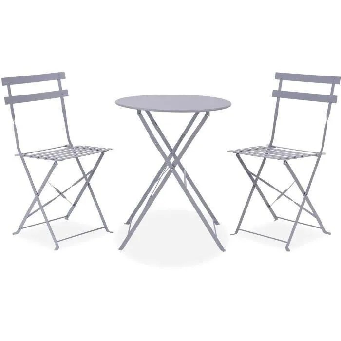 table de jardin pliante avec chaise