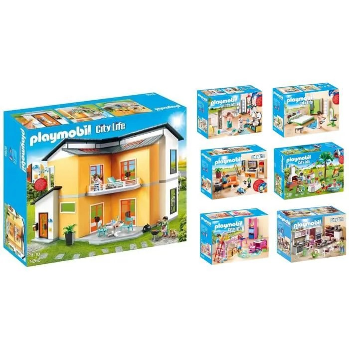 playmobil pack gamme maison moderne