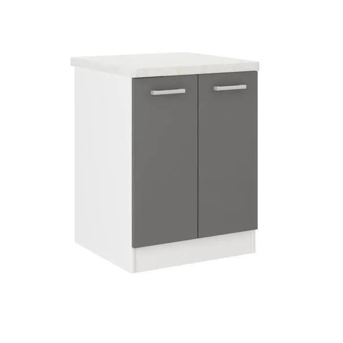 ultra meuble bas de cuisine l 60 cm avec plan de t