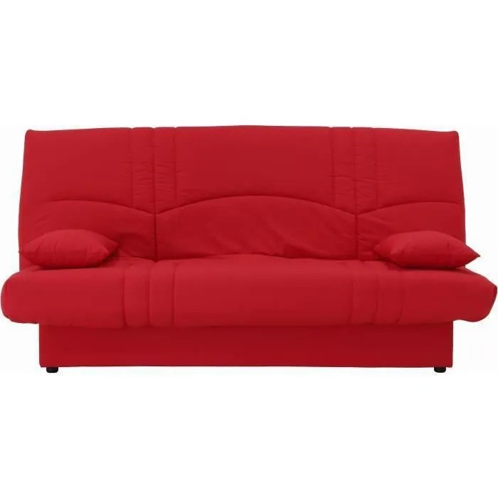 Clic Clac Couchage 140 X 190 Rouge Cdiscount