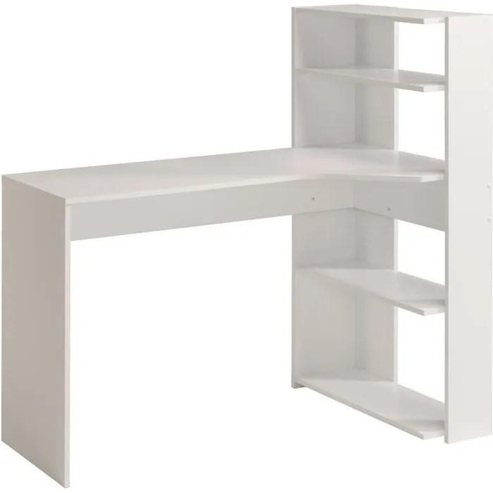 june bureau d angle contemporain decor blanc l 122 cm