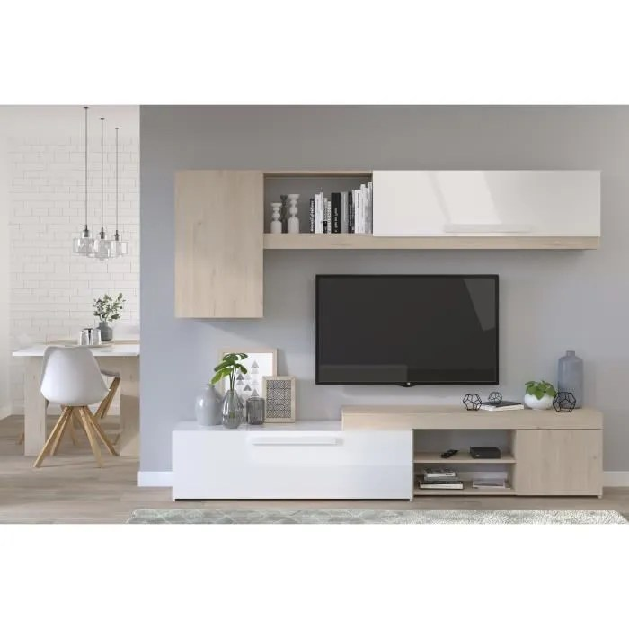 backstage meuble tv decor chene jackson et blanc