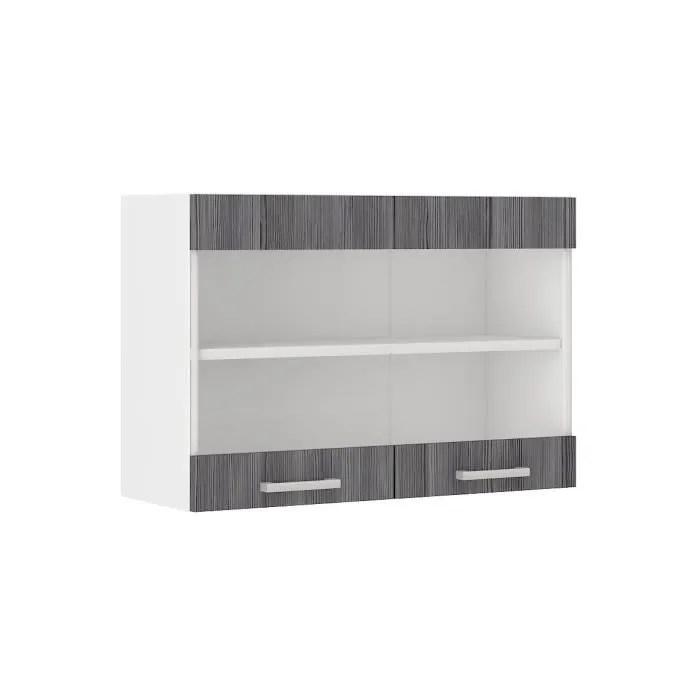 ultra meuble haut de cuisine l 80 cm decor chene gris mat