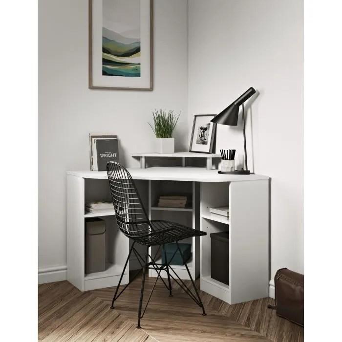 bobby bureau d angle classique blanc l 94 cm