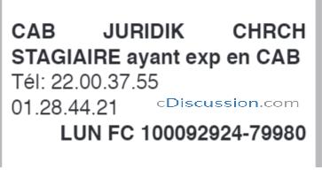 Cabinet Juridique Recrute 01 Stagiaire, Côte D'ivoire