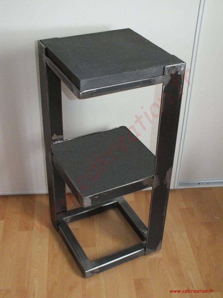 meubles style industriel en acier et