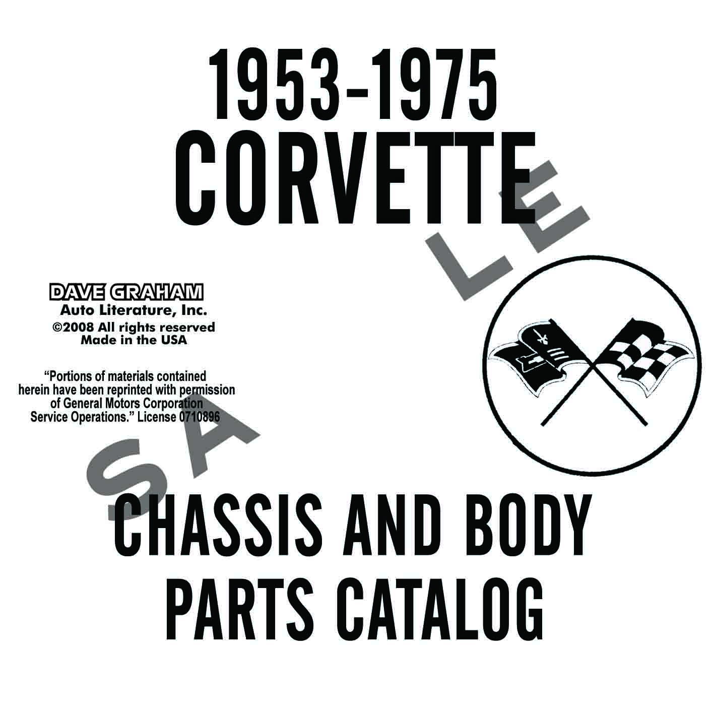 Corvette Chassis And Body Parts Manual