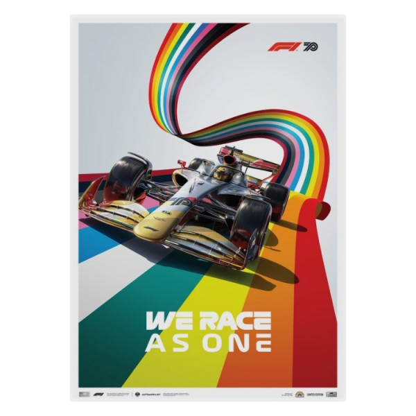 poster formula 1 we race as one fight against inequality