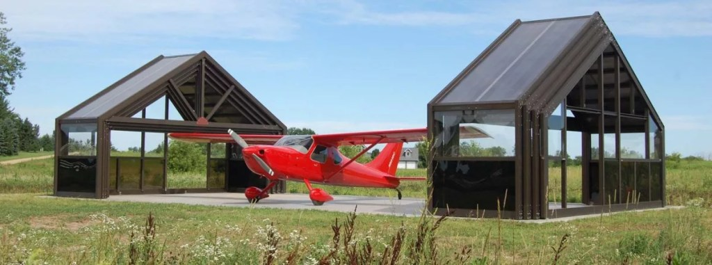 Cabrio airplane hanger modular structures.